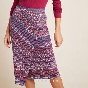 Anthropologie Maeve Carolina Knit Pencil Skirt